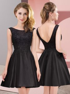 Low Price Sleeveless Zipper Mini Length Lace Dama Dress