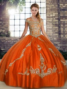Edgy Sleeveless Lace Up Floor Length Beading and Embroidery Ball Gown Prom Dress