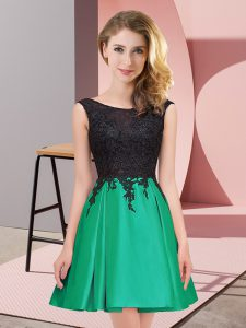 Green Scoop Neckline Lace Court Dresses for Sweet 16 Sleeveless Zipper