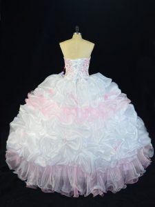 Delicate Sleeveless Lace Up Floor Length Beading and Pick Ups Quinceanera Dresses