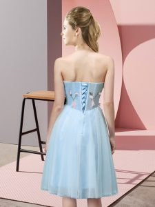 Sweetheart Sleeveless Tulle Damas Dress Appliques Lace Up