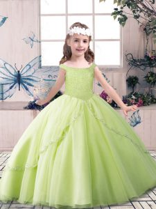 On Sale Sleeveless Lace Up Floor Length Beading Glitz Pageant Dress