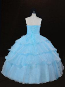Sleeveless Lace Up Floor Length Ruffles Quinceanera Dresses
