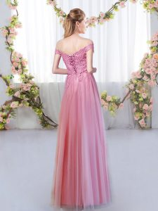 Flirting Sleeveless Lace Lace Up Dama Dress for Quinceanera