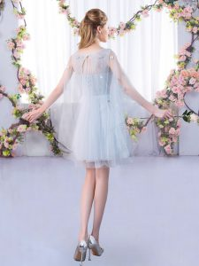 Hot Sale Scoop 3 4 Length Sleeve Tulle Quinceanera Court of Honor Dress Lace Lace Up