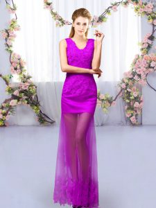 Fashion Sleeveless Lace Lace Up Quinceanera Court of Honor Dress