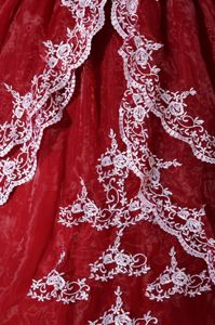 Gorgeous Appliques Strapless Layers Ball Gown Organza Quinceanera Dress