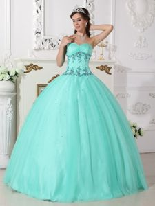 Cheap Sweetheart Beading Floor-length Cool Back Quinceanera Gowns