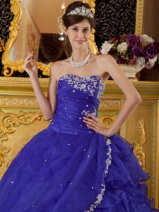 New Royal Blue Sweetheart Quinceanera Dresses with Ruffle Layers