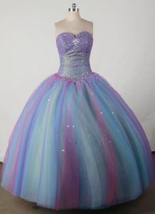 Tulle Beaded Sweetheart Quinceanera Dresses in Multi-color