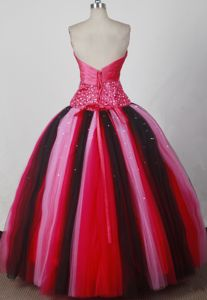 Sweetheart Beaded Tulle Quinceanera Dress in Multi color 2021