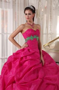 Floor-length Ball Gown Sweet sixteen Dress Sweetheart with Appliques