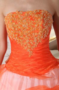 Ball Gown Strapless Appliques Sweet Sixteen Dresses with Bowknot