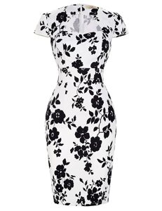 White And Black High-neck Zipper Pattern and Belt Mother of Bride Dresses Short Sleeves