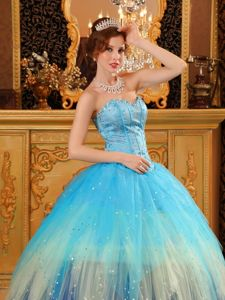 Beading Accent Sweetheart Dresses for a Quinceanera Of Colorful