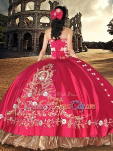 Dramatic Satin One Shoulder Sleeveless Lace Up Lace and Embroidery Quince Ball Gowns inRoyal Blue